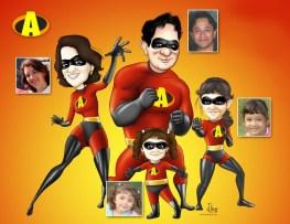 Caricatura da família