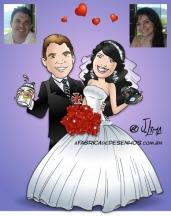 Caricaturas para casamento