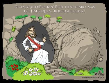 Simplesmente Jesus 01 rocha rock charge cartoon jlima
