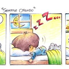 tirinha humor calebe sempre orando menino dormido lua sol cama jlima