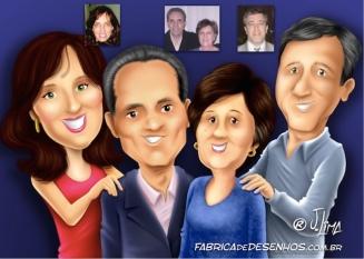 Caricatura de família