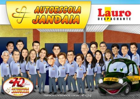 Caricatura em grupo Auto escola Jandaia