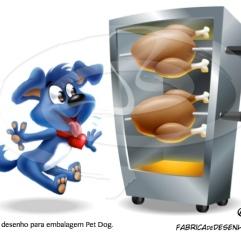 embalagem pet dog cartum mascote cartoon frango caozinho cachorro jlima