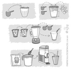 Modo de uso em vetor para Embalagem