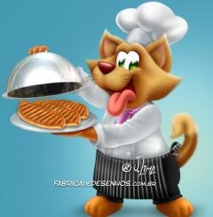 Rotulo mascote ração para gatos