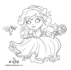 desenho-colorir-manga-princesa-menina