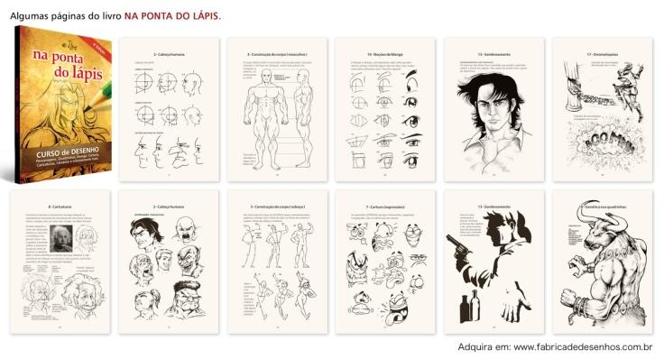 livro desenho book design cartuns cartoons manga caricaturas na ponta do lapis j lima