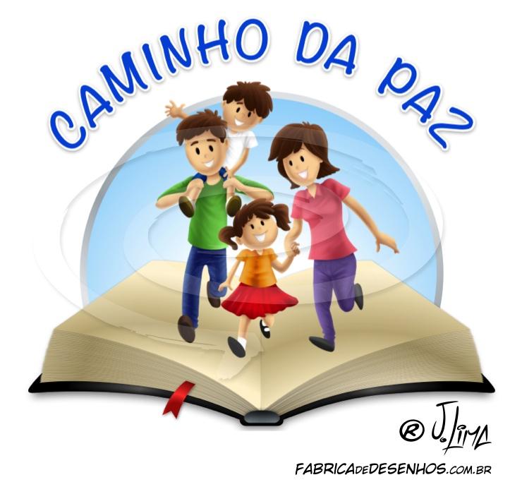 logo logotipo logomarca caminho paz biblia familia cartoon desenho jlima