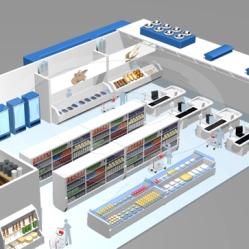 mercado 3D desenho jlima