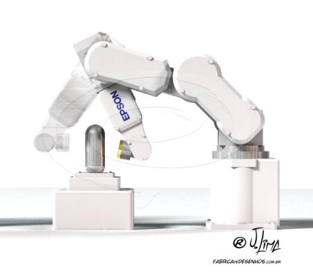 robot braço mecanico producao desenho 3D robo jlima