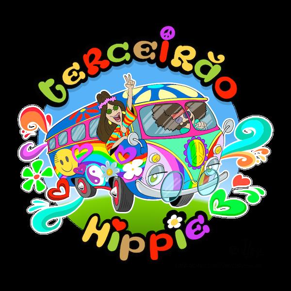 Terceirão hippie color vetor vector j lima perua kombi
