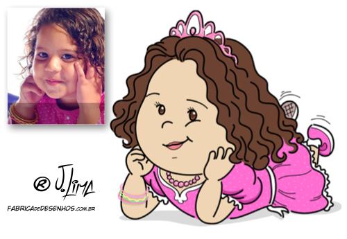 carica caricarina caricatura desenho cartum princesa rosa emnina jlima