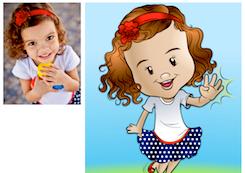caricatura carica caricarinha menina jlima