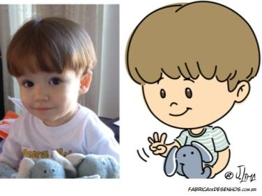 caricatura carinha crianca menino elefante caricarinha jlima