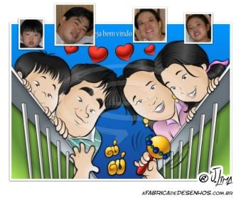 caricatura familia caricarinha grupo jlima