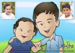 caricaturas meninos caricarinha caricas familia rosto xadrez jlima fabrica desenhos