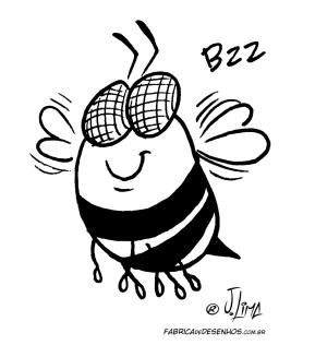 desenho colorir abelha gordinha