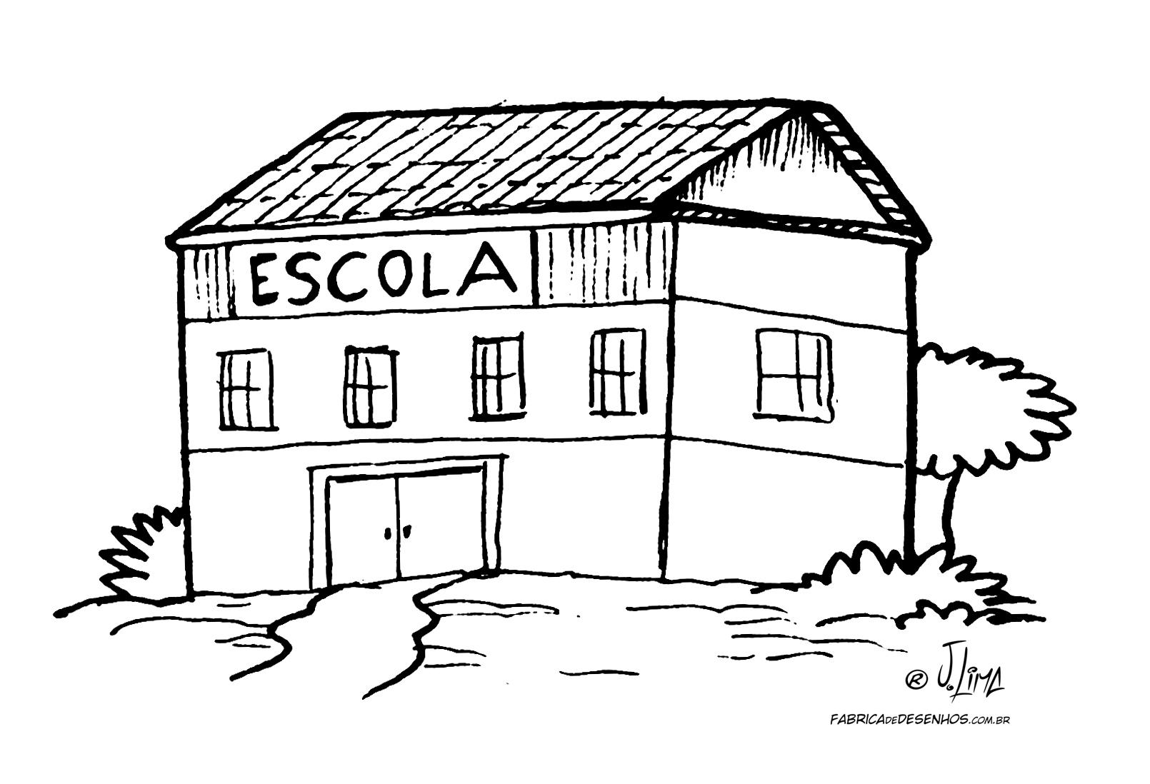 desenho colorir escola