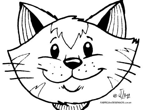 desenho colorir gatinho