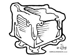 desenho colorir gelo cubo