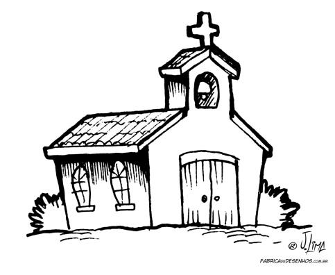 desenho colorir igreja