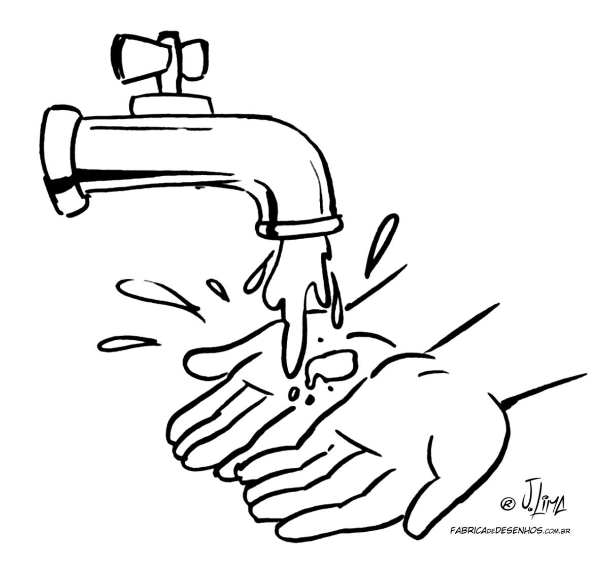 desenho agua pintar