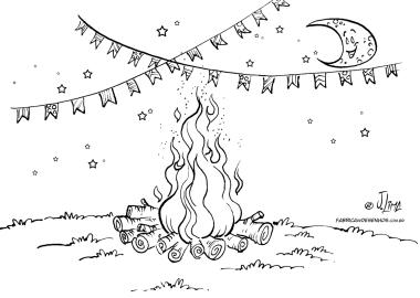 fogueira bandeirinhas festa junina lua quermesse