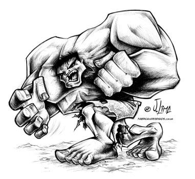 hulk - jlima cartoon cartum desenho incrivel verde bravo odio forte musculoso musculos