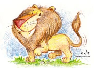 lion leao lapis de cor color pencil jlima desenho
