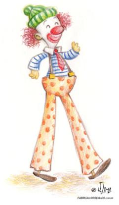 palhaco palhaço perna pau pal lapis de cor color pencil jlima desenho