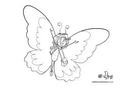 desenho borboletas lagarta colorir jlima 02