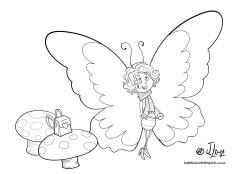 desenho borboletas lagarta colorir jlima 05