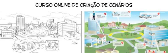 curso aulas online criaçao cenarios paisagem cidade ponto fuga jlima
