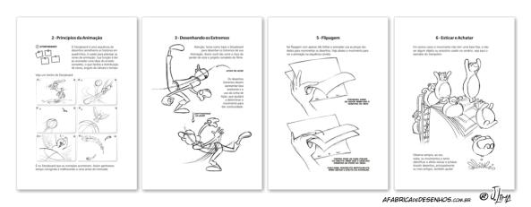 animacao desenho animado paginas livro jlima