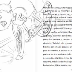 esboco rascunho pagina livro infantil