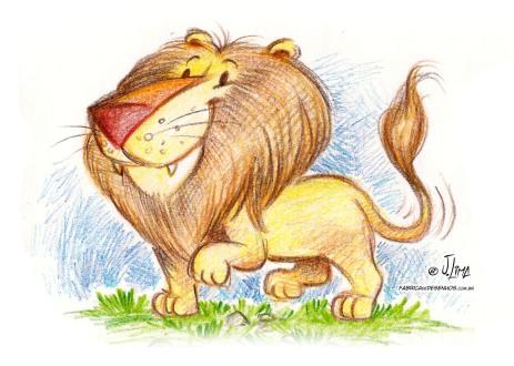 leao lion rei selva lapis cor