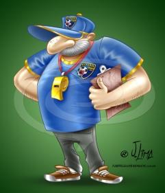 mascote treinador futebol desenho bone cartum cartoon jlima