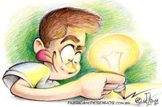 desenhista lapis cor lampada lapis ideia desenho mascote
