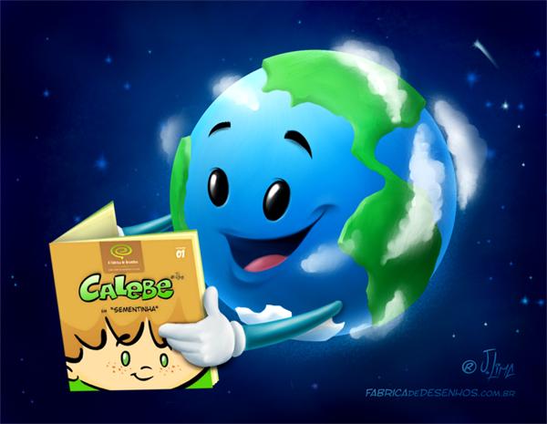 desenho dia da terra e livro Calebe sementinha j lima 600