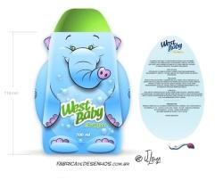 Embalagem elefante Shampoo West Baby