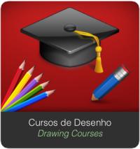 Banner SERVIÇOS Home cursos de desenho Drawing Courses
