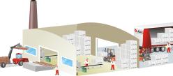 desenho logistica galpao fabrica logistic