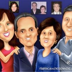 Caricatura para família