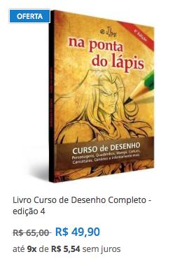 livro desenho curso frete gratis