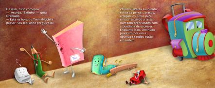 Páginas do Livro Zefinho e Orelhudo.
