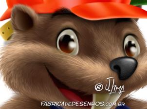 castor mascote personagem construcao obra pedreiro Beaver mascot character construction mason work by j.lima 4