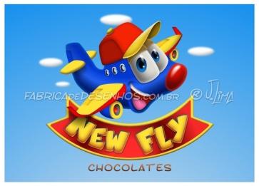 Logo e Mascote para New Fly Chocolates