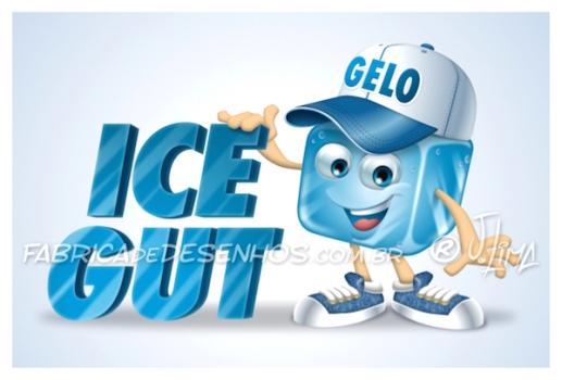 Logo com Mascote para ICE GUT