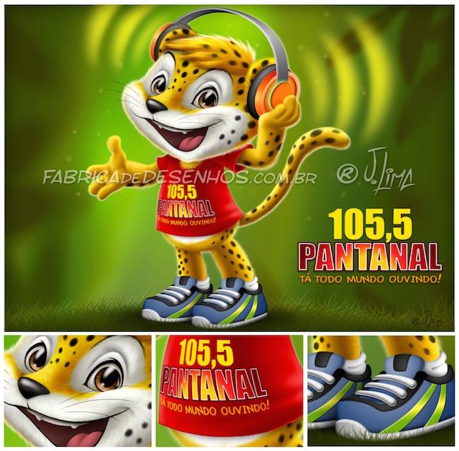 Mascote 3D para Rádio Pantanal