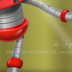 Robo tv vetor mascote personagem cartoon desenho mascot design character red vermelho app celular smartphone iphone robot jlima 2